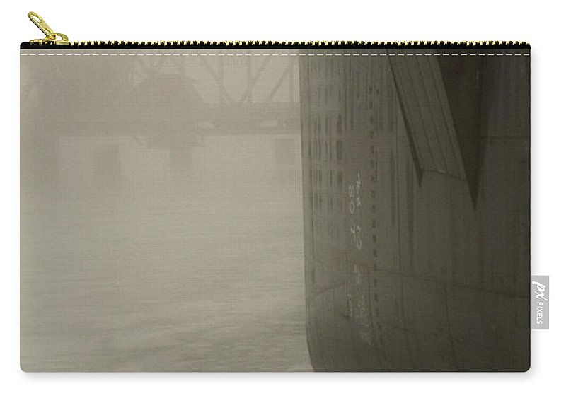 Water Carry-all Pouch featuring the photograph Bridge And Barge by Tim Nyberg