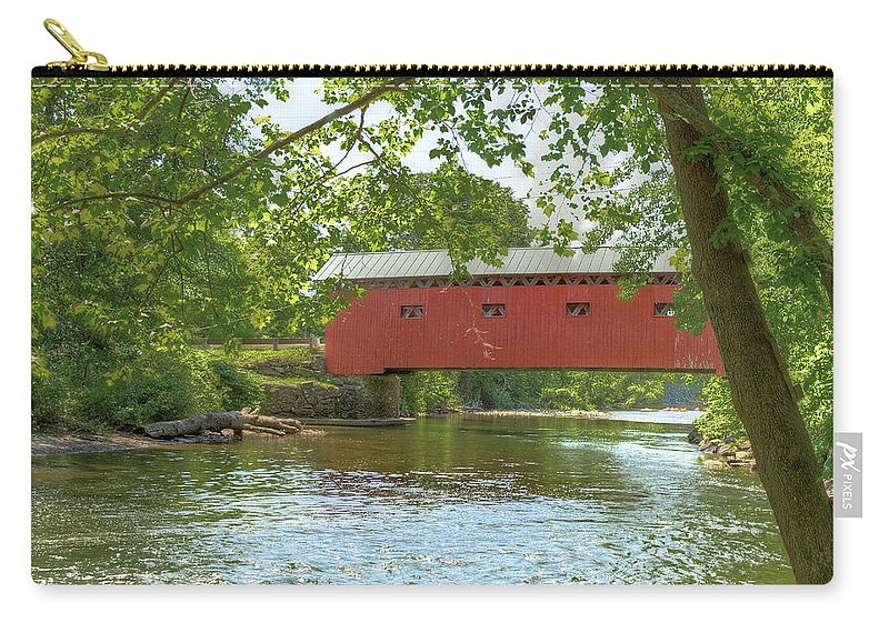 Summer Carry-all Pouch featuring the photograph Bridge At The Green by Rod Best