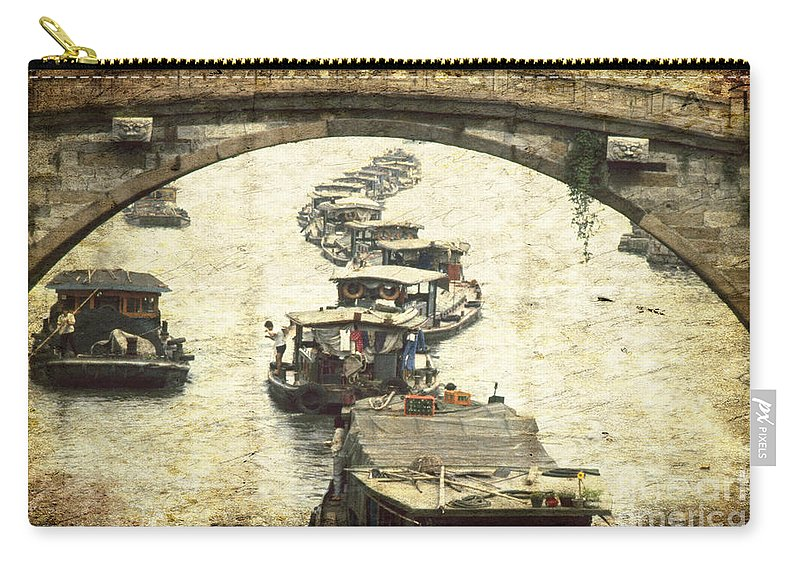 Asia Carry-all Pouch featuring the photograph Bridge In Souzhou by Heiko Koehrer-Wagner