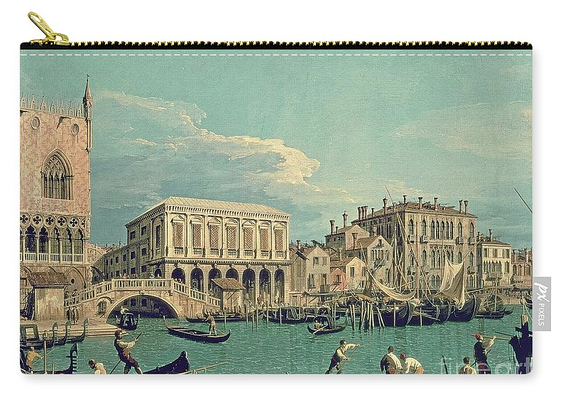 Canaletto Carry-all Pouch featuring the painting Bridge Of Sighs by Canaletto