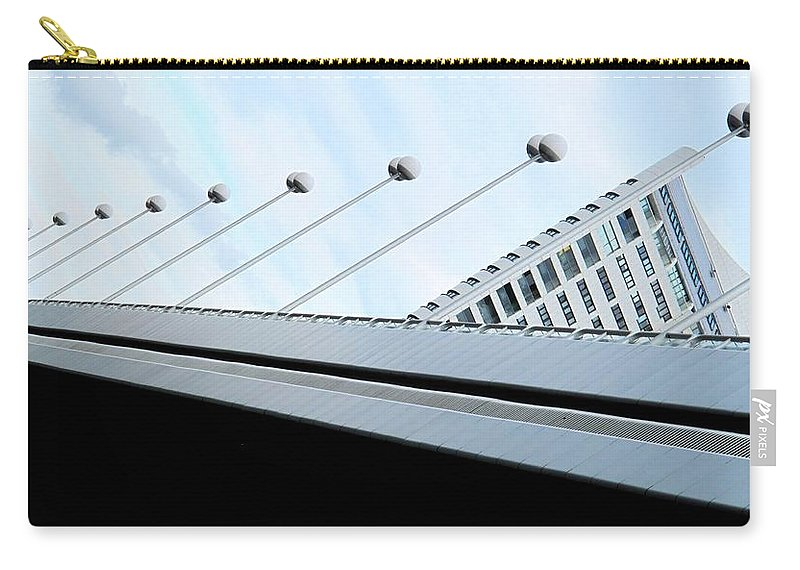 Vienna Carry-all Pouch featuring the photograph Bridge Over The Danube by Ian MacDonald