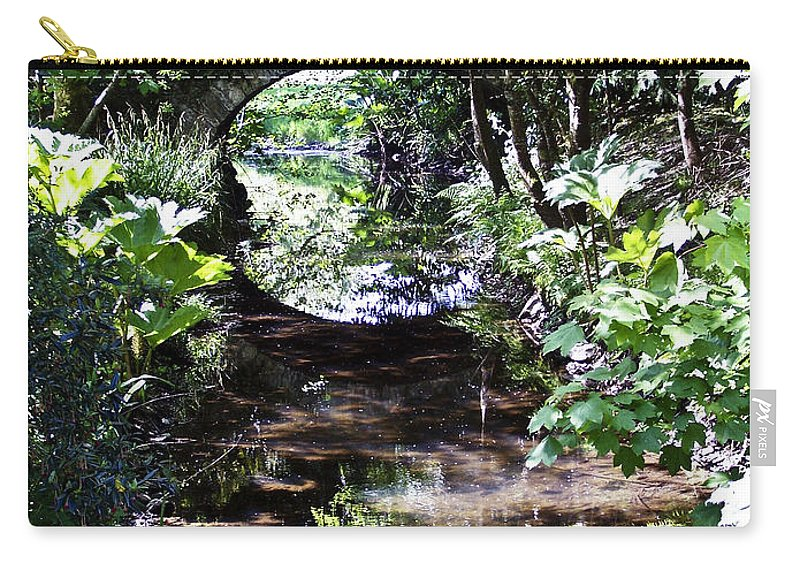 Irish Carry-all Pouch featuring the photograph Bridge Reflection At Blarney Caste Ireland by Teresa Mucha