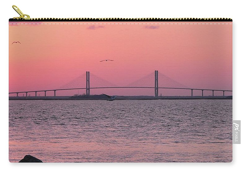 Lanier Carry-all Pouch featuring the photograph Bridge Sunset by Al Powell Photography USA