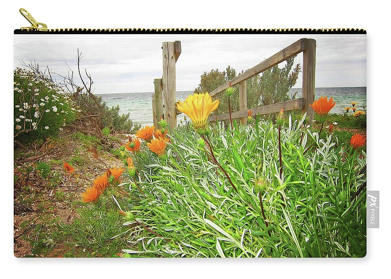 Bridge Carry-all Pouch featuring the photograph Bridge To Nowhere by Douglas Barnard