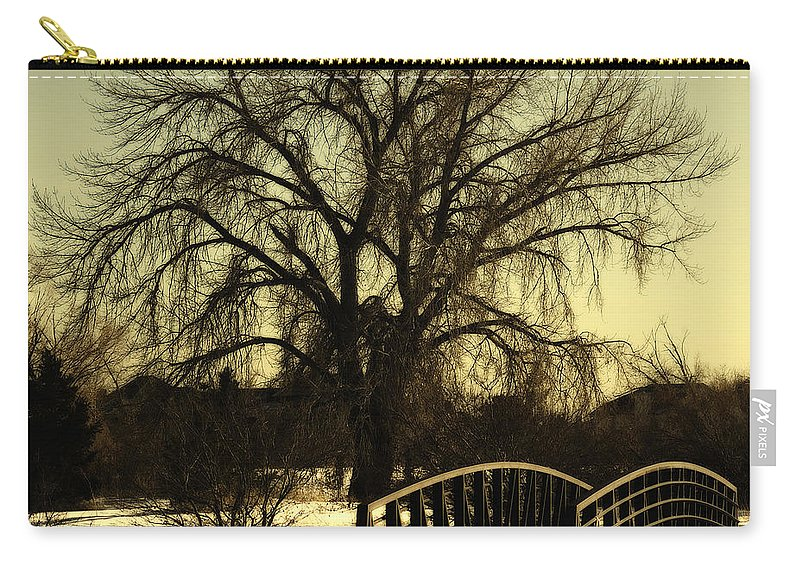 Bridge Carry-all Pouch featuring the photograph Bridge to Tree by Marilyn Hunt