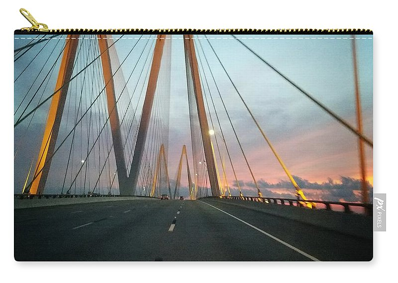 Carry-all Pouch featuring the photograph Bridges by Beth LaFata