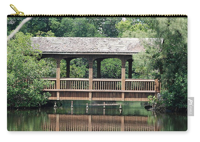 Architecture Carry-all Pouch featuring the photograph Bridges Of Miami Dade County by Rob Hans