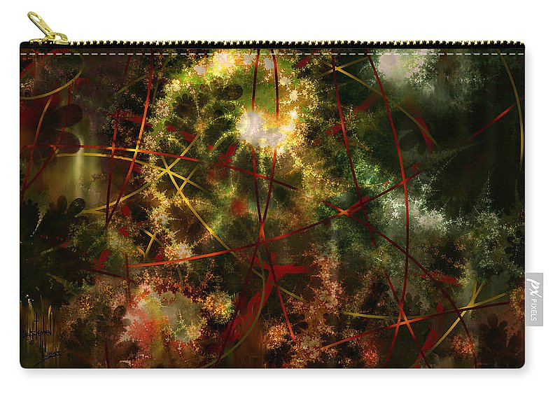 Abstract Carry-all Pouch featuring the digital art Bridges To Inner Sanctums by Stephen Lucas