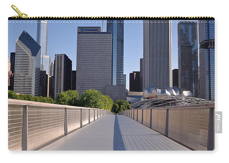Art Carry-all Pouch featuring the photograph Bridgeway To Chicago by Steve Gadomski