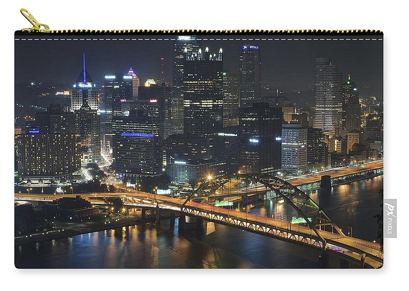 Pittsburgh Carry-all Pouch featuring the photograph Bridging The Gap by Frozen in Time Fine Art Photography