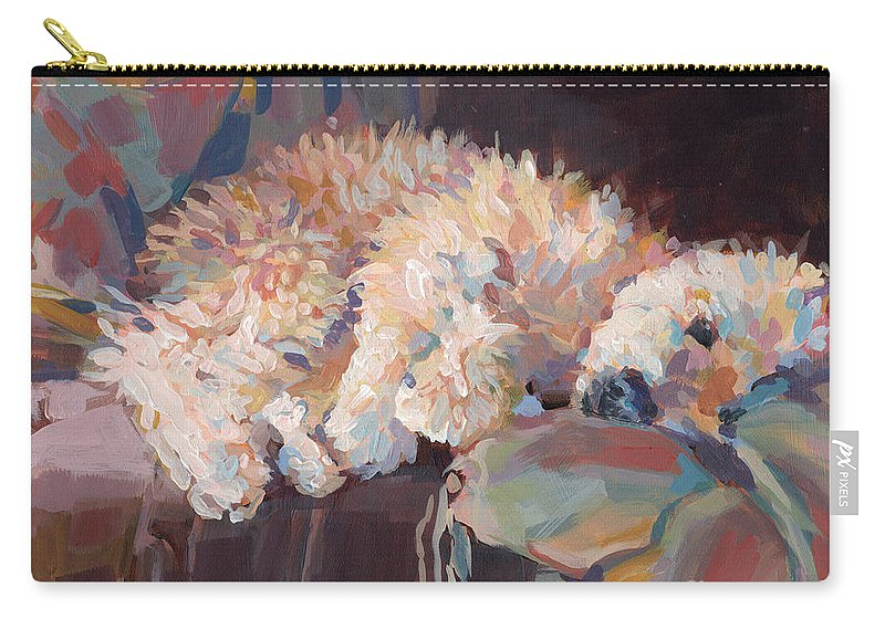 Goldendoodle Carry-all Pouch featuring the painting Brie As Odalisque by Kimberly Santini