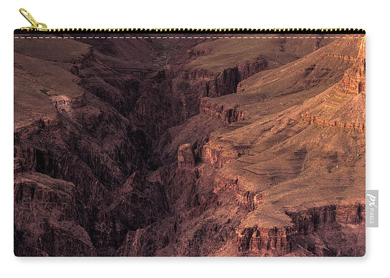 Arizona Carry-all Pouch featuring the photograph Bright Angel Canyon Grand Canyon National Park by Steve Gadomski