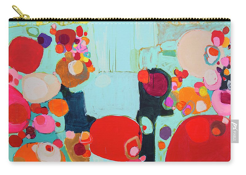 Abstract Carry-all Pouch featuring the painting Bright As Quiet by Claire Desjardins