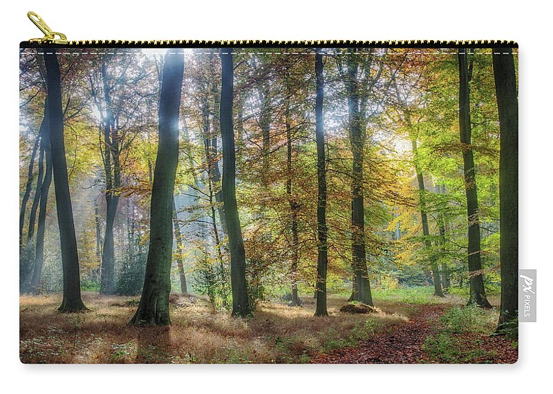 Bright Carry-all Pouch featuring the photograph Bright Autumn Morning by Ceri Jones