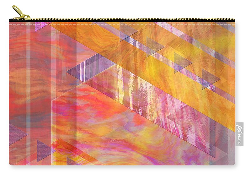 Affordable Art Carry-all Pouch featuring the digital art Bright Dawn by John Beck