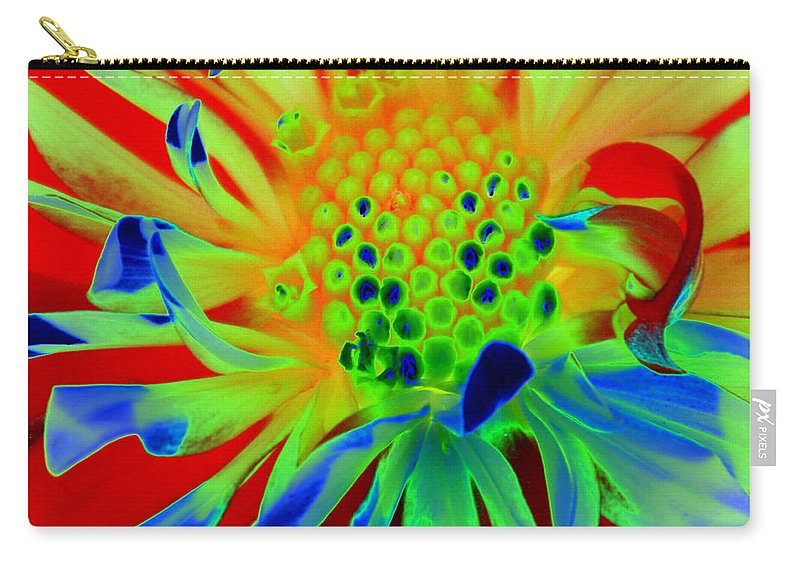 Diane Berry Carry-all Pouch featuring the painting Bright Flower by Diane E Berry