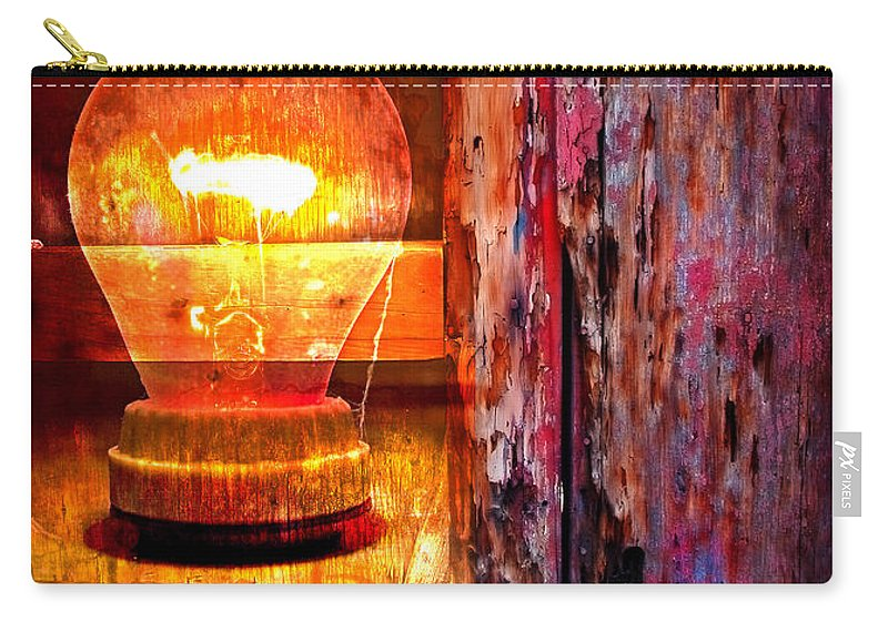 Skip Carry-all Pouch featuring the photograph Bright Idea by Skip Hunt