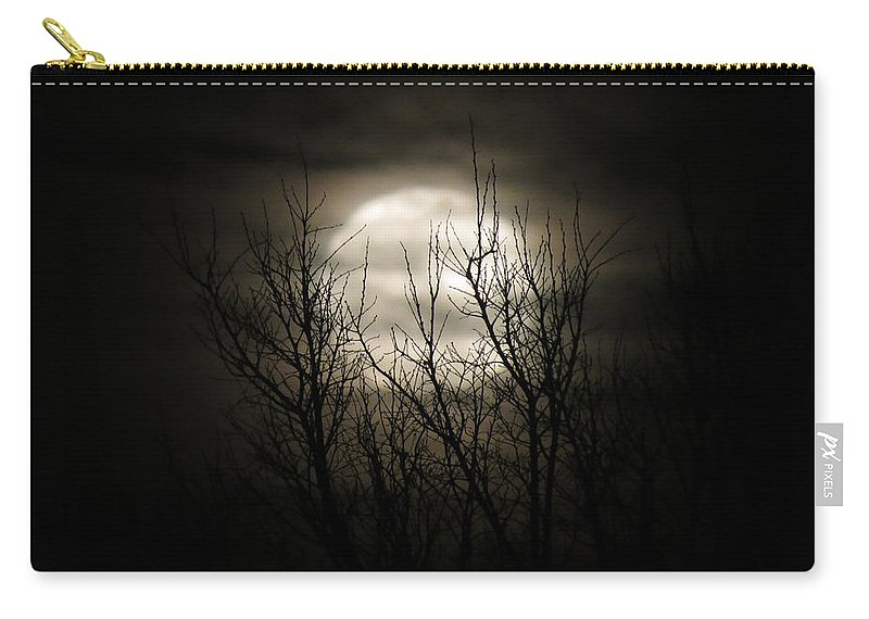 Moon Carry-all Pouch featuring the photograph Bright Night by Laurel Powell