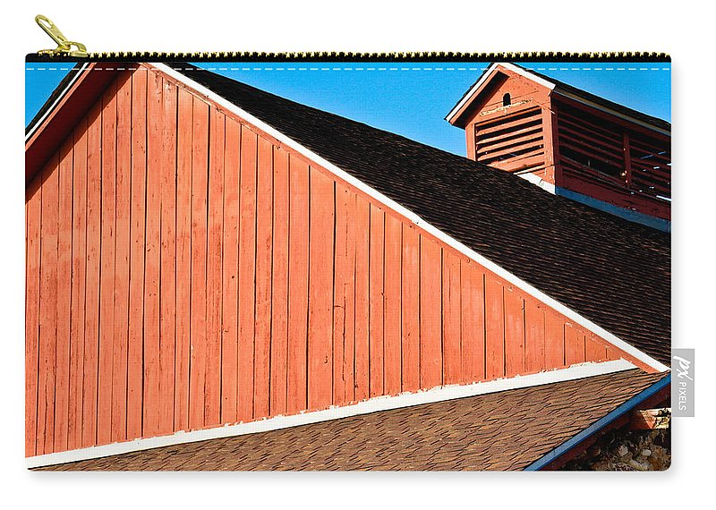 Americana Carry-all Pouch featuring the photograph Bright Red Barn by Marilyn Hunt