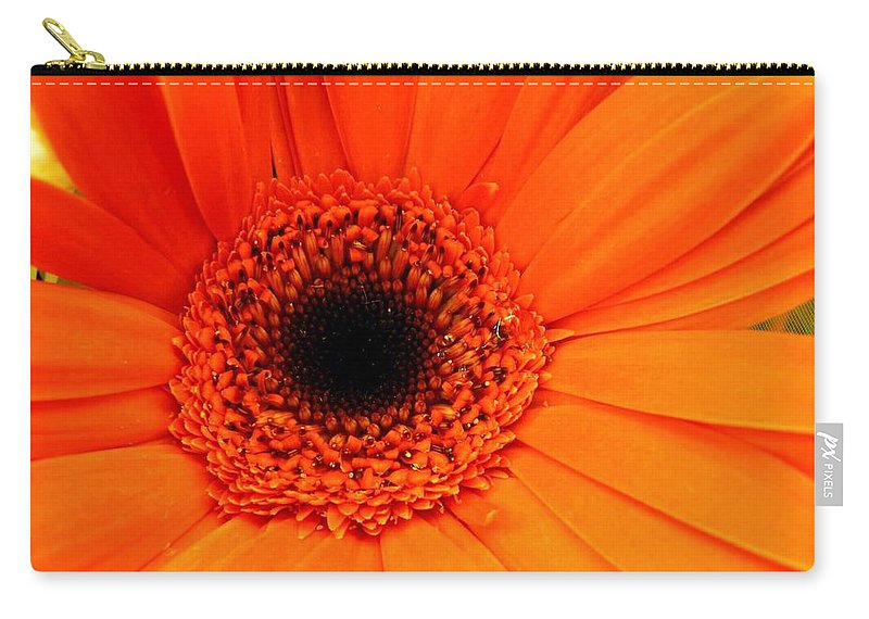 Flower Carry-all Pouch featuring the photograph Bright Red by Rhonda Barrett