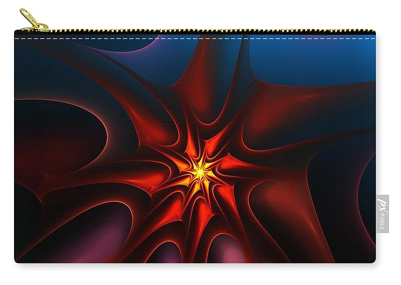 Abstract Carry-all Pouch featuring the digital art Bright Star by David Lane