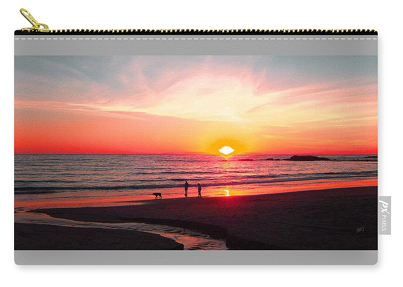 Sunset Carry-all Pouch featuring the photograph Bright Sunset by Ben and Raisa Gertsberg