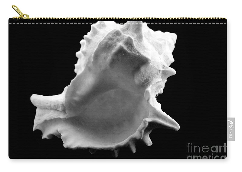 Mary Deal Carry-all Pouch featuring the photograph Brilliant Drupe In Black And White by Mary Deal