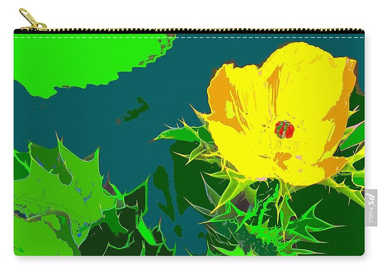 Carry-all Pouch featuring the photograph Brimstone Yellow by Ian MacDonald