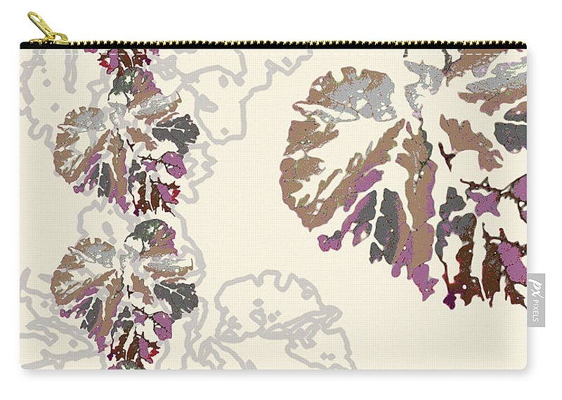 Leaves Carry-all Pouch featuring the digital art Brin by Ceil Diskin