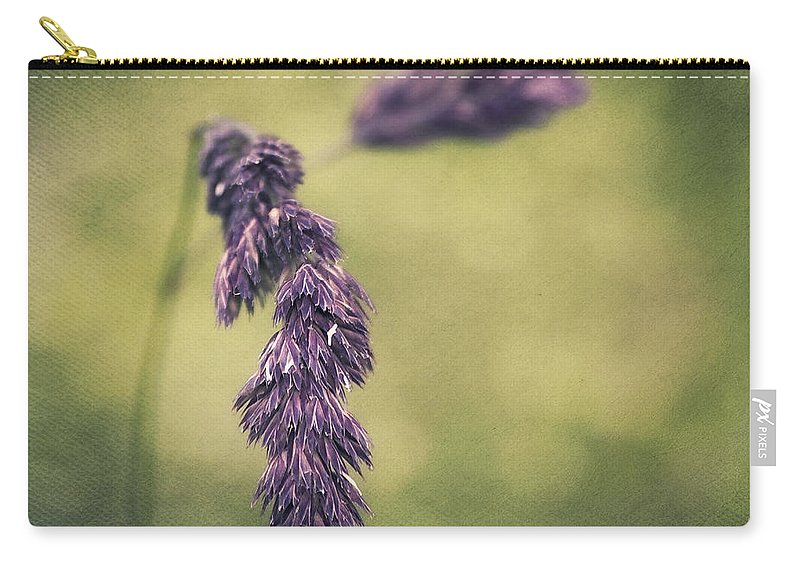 Grass Carry-all Pouch featuring the photograph Brin D'herbe by Angela Doelling AD DESIGN Photo and PhotoArt