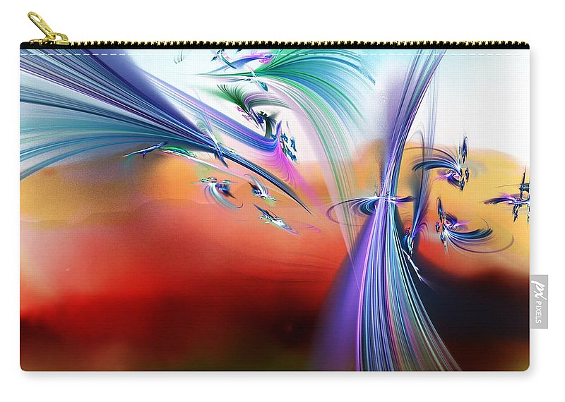Flowers Carry-all Pouch featuring the digital art Bringing In The Light by David Lane