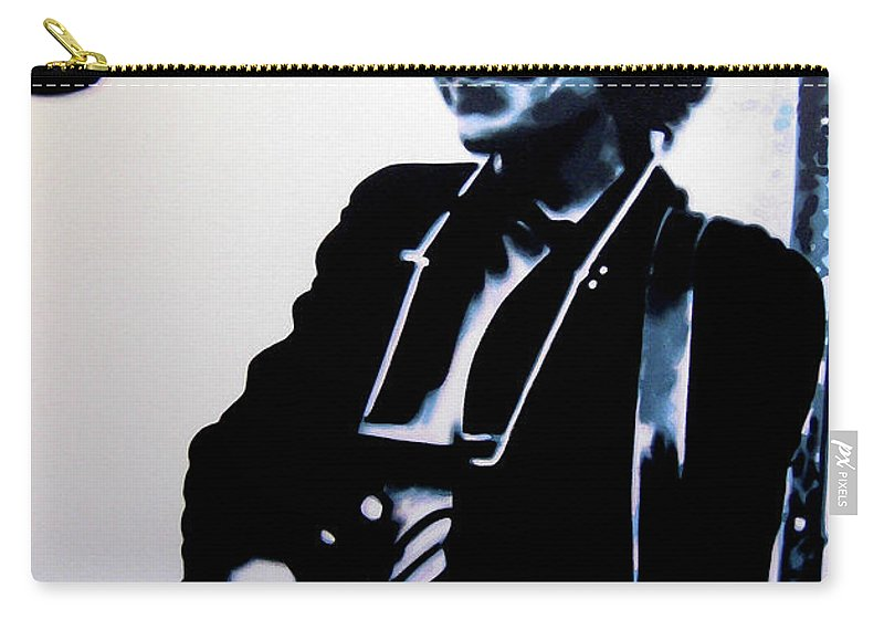 Hood Carry-all Pouch featuring the painting Bringing It All Back Home by Hood alias Ludzska