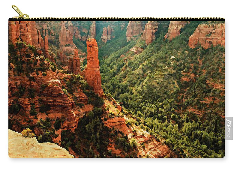 Arizona Carry-all Pouch featuring the photograph Brins Mesa 07-143 by Scott McAllister