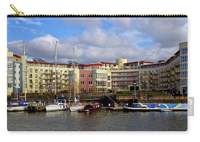 Bristol Carry-all Pouch featuring the photograph Bristol Harbour Appartments by Brian Roscorla
