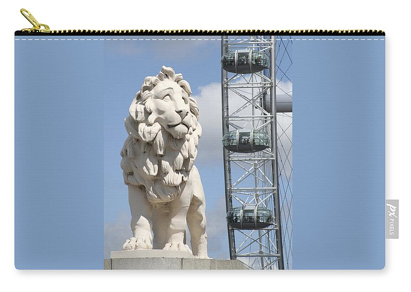 Lion Carry-all Pouch featuring the photograph Britannia Lion by Margie Wildblood