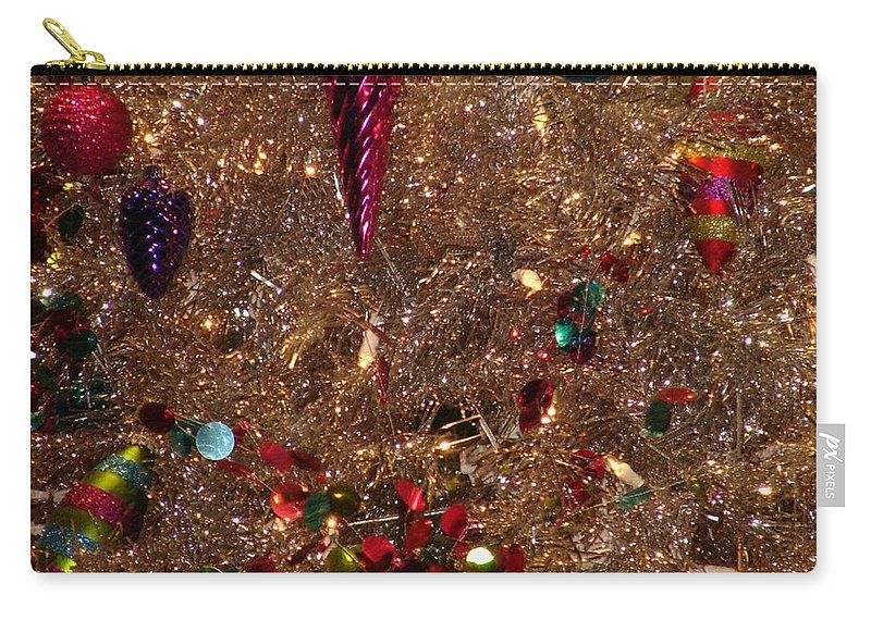 Christmas Decorations Carry-all Pouch featuring the photograph Brite Christmas by Bob Carey
