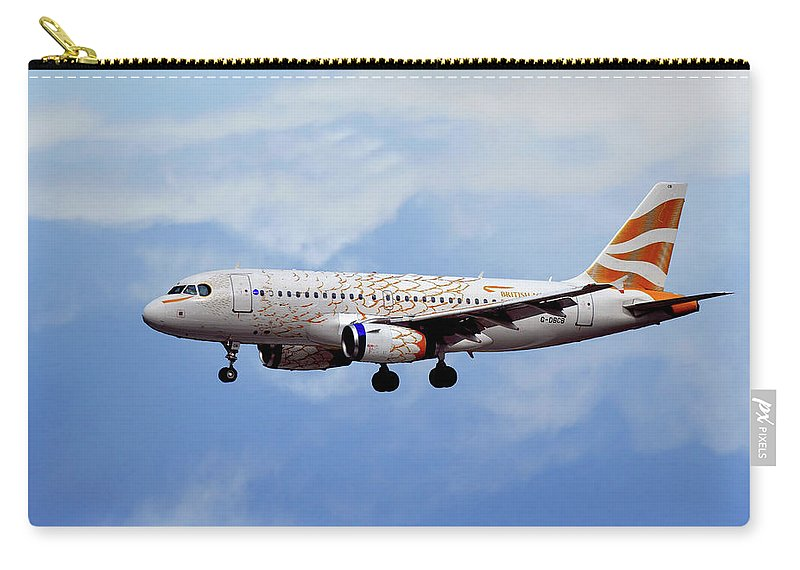 British Airways Carry-all Pouch featuring the photograph British Airways Airbus A319-131 by Smart Aviation