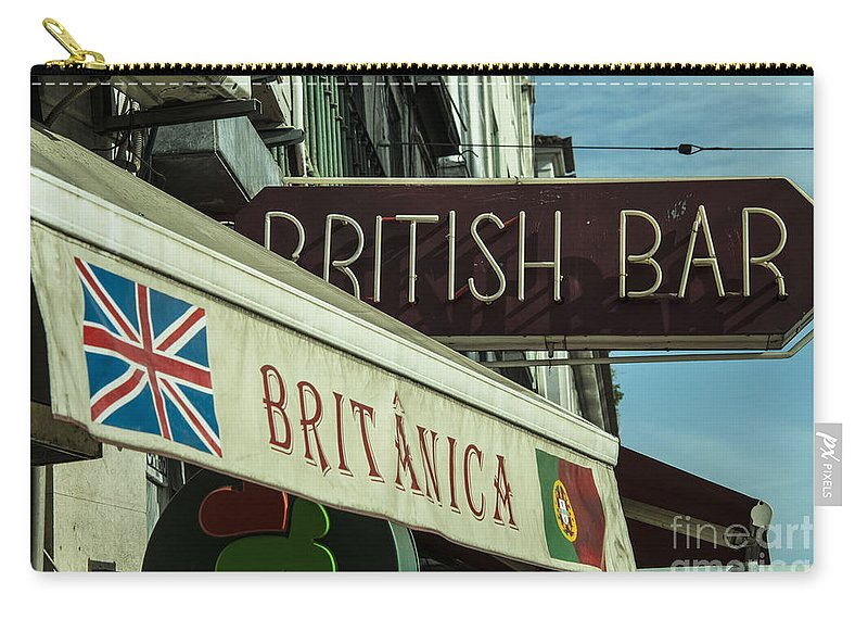 British Carry-all Pouch featuring the photograph British Bar Britanica by Rob Hawkins