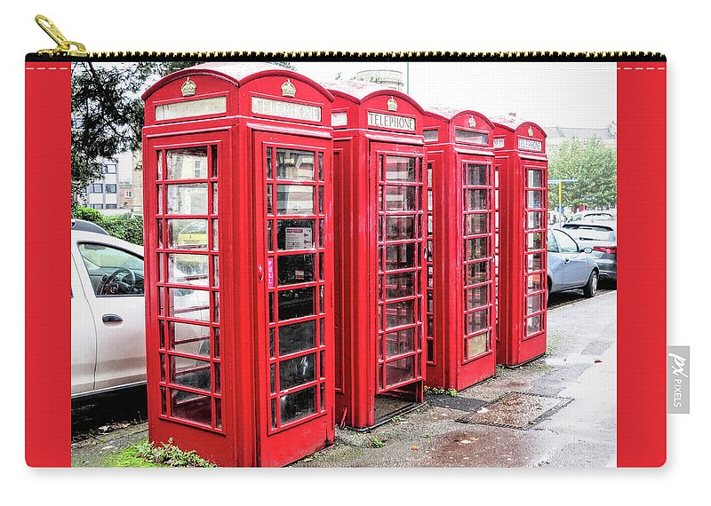 British Phone Booths Carry-all Pouch