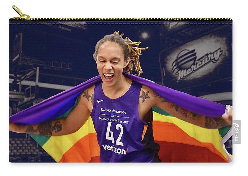 Brittney Griner Carry-all Pouch featuring the photograph Brittney Griner Lgbt Pride 3 by Devin Millington
