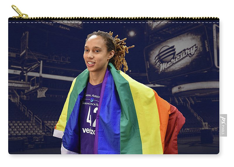 Brittney Griner Carry-all Pouch featuring the photograph Brittney Griner Lgbt Pride 4 by Devin Millington