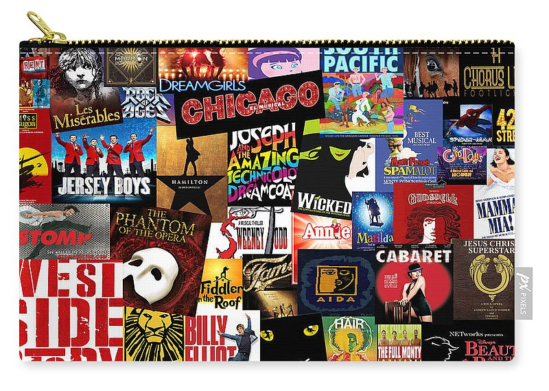 Broadway Carry-all Pouch featuring the photograph Broadway 3 by Andrew Fare