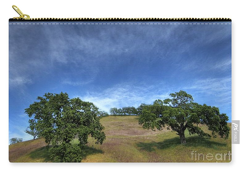 California Scenes Carry-all Pouch featuring the photograph Broccoli Trees by Norman Andrus