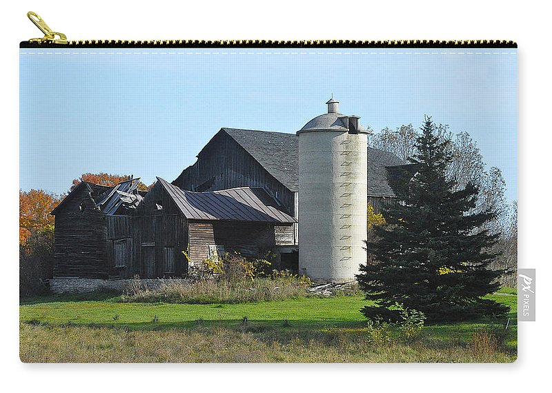 Barn Carry-all Pouch featuring the photograph Broke by Tim Nyberg