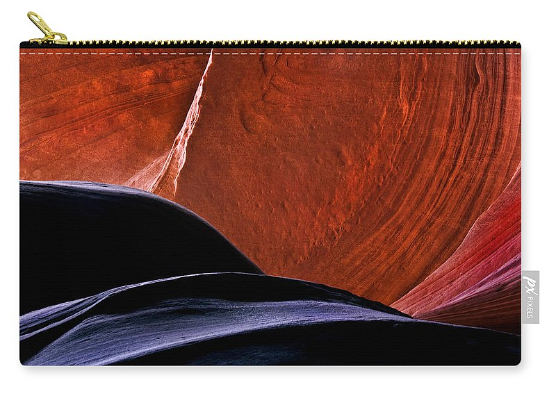 Sandstone Carry-all Pouch featuring the photograph Broken Dial by Mike Dawson