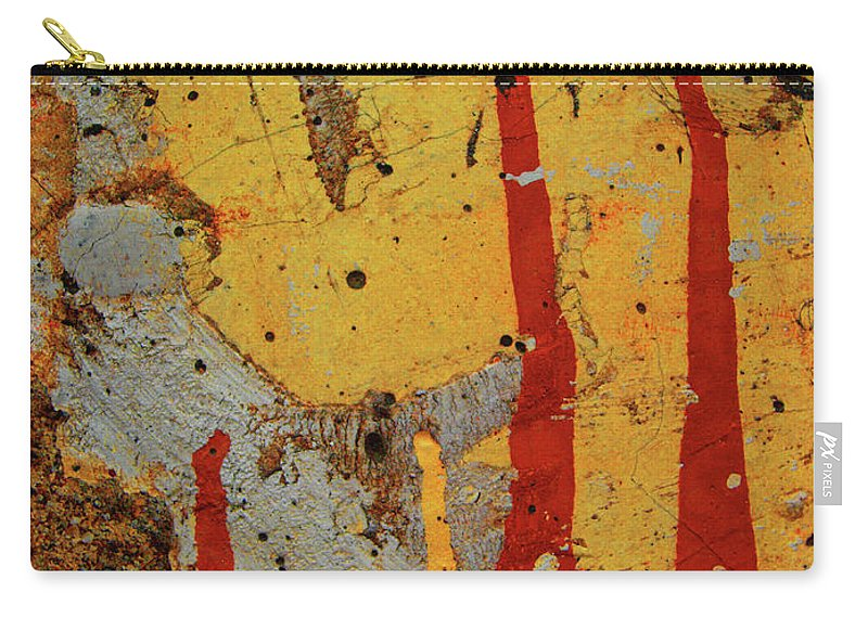 Texture Carry-all Pouch featuring the photograph Broken Flames by Tara Turner