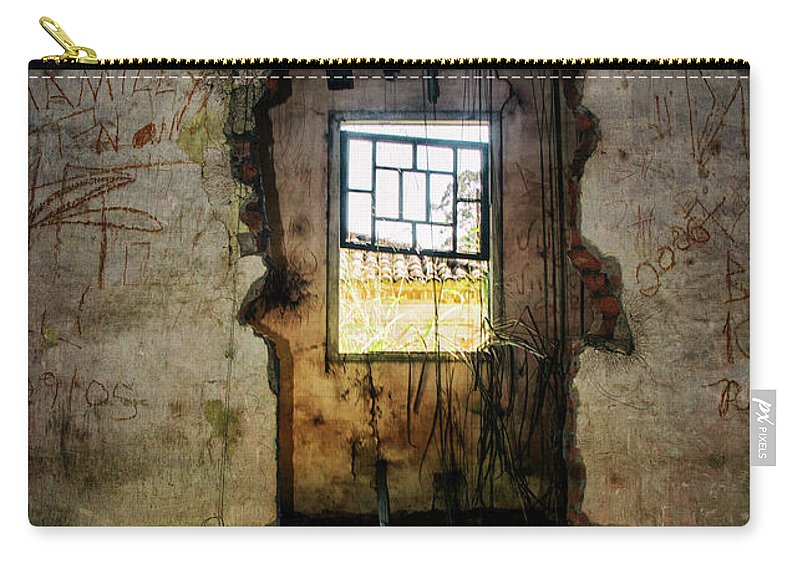 Door Carry-all Pouch featuring the photograph Broken House by James Conway