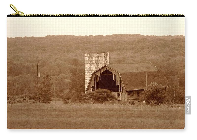 Barn Carry-all Pouch featuring the photograph Broken by Rhonda Barrett
