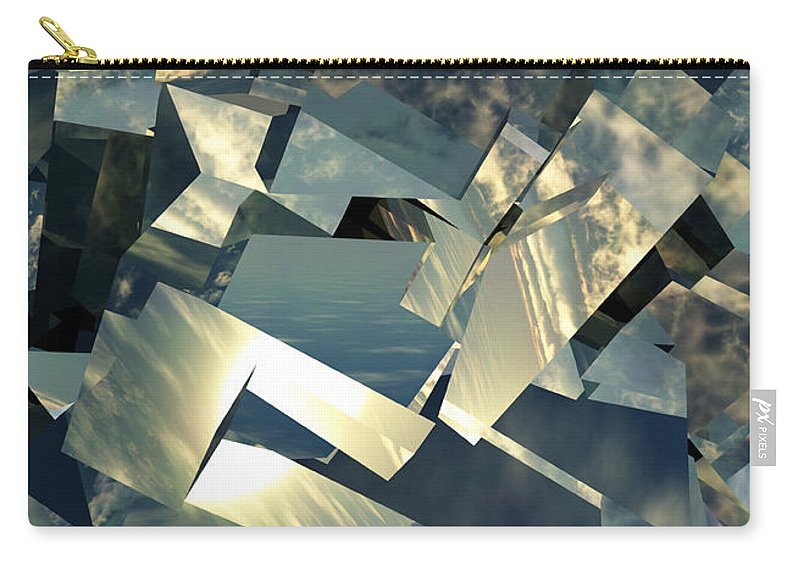 Skies Carry-all Pouch featuring the digital art Broken Sky by Richard Rizzo