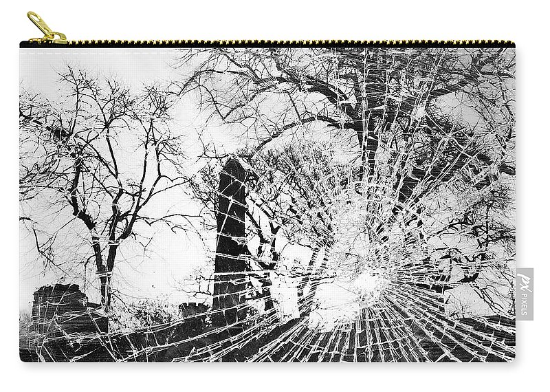 Tree Carry-all Pouch featuring the photograph Broken Trees by Munir Alawi